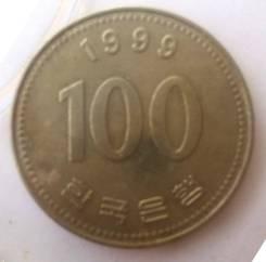 Монета 100 вон 1999 года - Южная Корея - Адмирал Ли Сун Син в Фокино