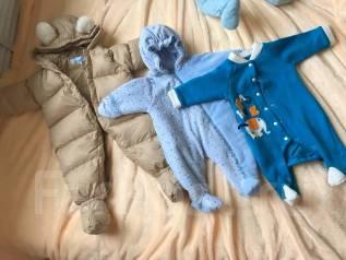 Теплая одежда для малыша. Рост: 50-60 см