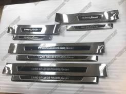 Накладка на порог. Toyota Land Cruiser Prado, GRJ150W, GDJ150L, GRJ150, GDJ151W, GDJ150W, GRJ151, GRJ150L, GRJ151W