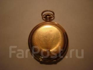 Часы старинные карманные. Золото. Швейцария. 1920-е. Рабочие. Оригинал