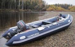 Надувная лодка Солар 450 MK Максима. Год: 2017 год, длина 4,50м., двигатель подвесной, 40,00л.с., бензин