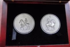 Набор монет.2004г. Того. Олимпиада/Конный спорт. Серебро. RARE. Proof.
