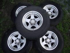 Литье CV928 16x8J с резиной Bridgestone A/T 265/70/16. 8.0x16 6x139.70 ET-10