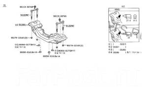 Балка под двс. Toyota: Cresta, Crown, Crown Majesta, Mark II, Chaser Двигатели: 1JZGTE, 1GFE, 2JZGE, 1JZGE, 1GGPE, 2LTE