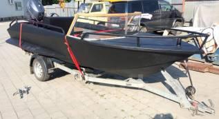 Лодка АМГ5. длина 4,70м., двигатель подвесной, 25,00л.с., бензин