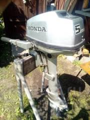 Honda. 5,00л.с., 4-тактный, бензиновый, нога L (508 мм), Год: 2002 год