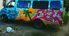 Граффити оформление фасадов, машин, гаражей и т. п.