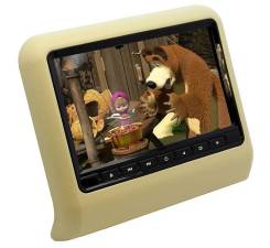 """Монитор 10"""" на подголовник в АВТО DVD/USB/SD/Game (бежевый)"""