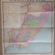 Карта Приморского Края 1987г.