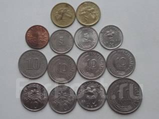 Сингапур и Малайзия подборка из 14 монет. Без повторов! Торги с 1 р.