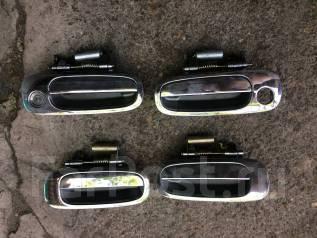 Накладка на ручки дверей. Toyota Corolla, EE110, AE110, CDE110, CE110, WZE110, ZZE110 Двигатели: 2E, 5AFE, 1CDFTV, 2CIII, 1WZ, 2CE, 1ZZFE, 4EFE, 2C
