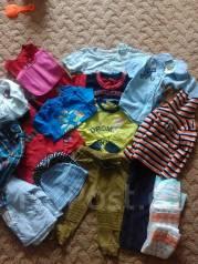 Большой лот одежды для малыша с рубля. Рост: 68-74, 74-80, 80-86 см