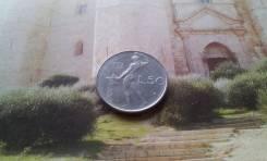 Италия. Изящные и красивые 50 лир 1973 года.