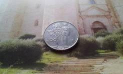 Италия. Изящные и красивые 100 лир 1975 года.