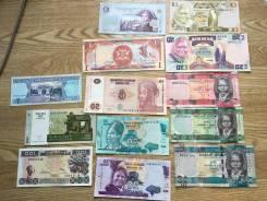 Экзотические банкноты 13 штук Новые, Хрустящие Пресс UNC