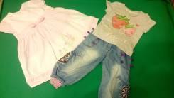 Платья джинсовые. Рост: 80-86, 86-98 см
