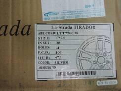 Отличный комплект колес R17, маленькая четверка 4х100. 7.0x17 4x100.00 ET38 ЦО 73,1мм. Под заказ