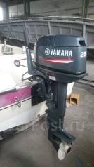 Yamaha. 25,00л.с., 2х тактный, бензин, нога L (508 мм), Год: 2014 год