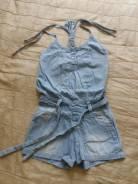 Комбинезоны джинсовые. Рост: 104-110, 110-116 см