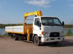 Hyundai HD. Автомобиль бортовой -78 DLX с КМУ Soosan 334, 3 933 куб. см., 3 650 кг.
