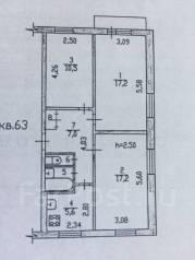 3-комнатная, улица Истомина, 70. Кировский, частное лицо, 61 кв.м.