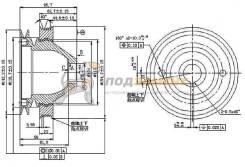 Шкив коленвала MITSUBISHI L200/PAJERO 6G72 88-99 SAT / STMD141468