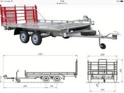 Курганские прицепы. Г/п: 400 кг., масса: 750,00кг.