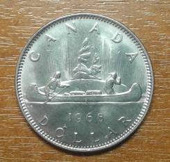 Канада 1 доллар 1968 Voyager KM 76.1 Сохран ! Unc - монета из ро