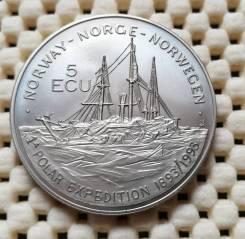 Норвегия 5 экю 1993г. CuNi Нансен