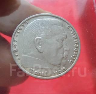 Германия 2 Марки 1937 А - Гинденбург (Серебро)(3)
