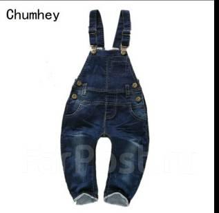 Комбинезоны джинсовые. Рост: 86-98, 98-104, 104-110, 110-116 см