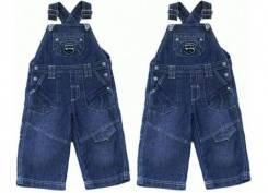 Комбинезоны джинсовые. Рост: 50-60, 60-68, 68-74 см