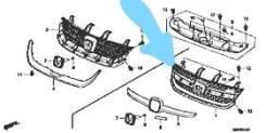 Решетка радиатора. Honda Stream, DBA-RN7, DBA-RN6, DBA-RN9, DBA-RN8, RN6, DBARN6