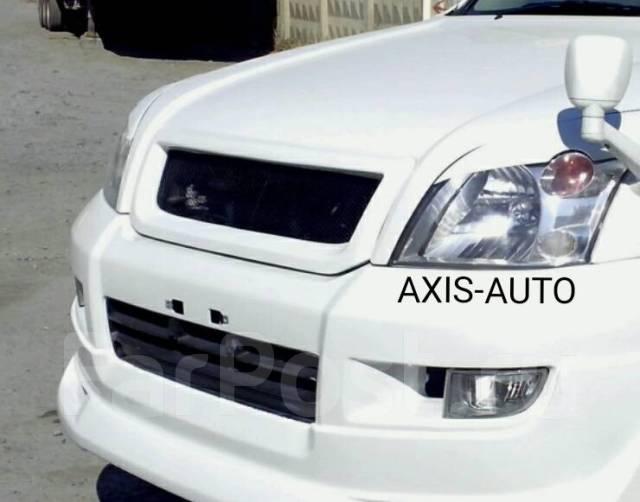Решетка радиатора. Toyota Land Cruiser Prado, GRJ120, GRJ120W, GRJ121, GRJ121W, GRJ125, GRJ125W, KDJ120, KDJ120W, KDJ121, KDJ121W, KDJ125, KDJ125W, KZ...