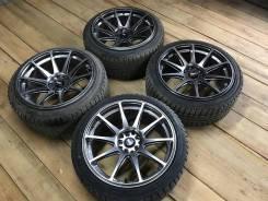 Крутейшие колеса R18 j8.5 j9.5 XXR527 на жирной зимней резине. 8.5/9.5x9.5 5x100.00, 5x114.30 ЦО 73,1мм.