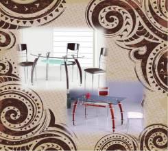 Распродажа стеклянных столов с деревянной отделкой. Акция длится до 31 января
