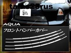 Накладка на решетку бампера. Toyota Aqua, NHP10, NHP10H