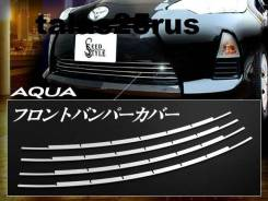 Накладка на решетку бампера. Toyota Aqua, NHP10