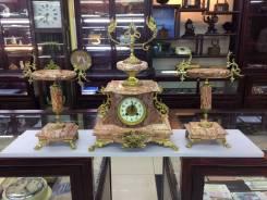Каминные часы с вазами! Франция 19 век. Оригинал
