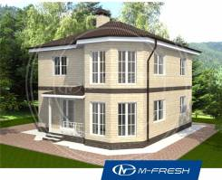 M-fresh Leonardo (Эркер, два полных этажа, камин). 200-300 кв. м., 2 этажа, 4 комнаты, бетон