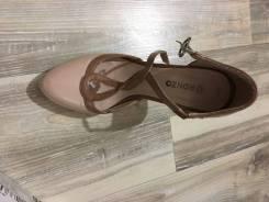 Туфли бежевые лаковые
