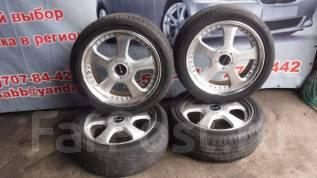 Комплект летних колес на литье R18 WORK с резиной 225/45R18. x18 4x114.30