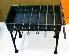 Мангал черный 500 мм, толщ. металла 2 мм + шампура