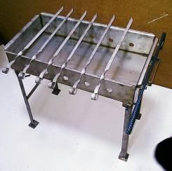 Мангал нержавейка 500 мм, толщ. металла 2мм + шампура