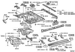 Накладка на подножку. Toyota Land Cruiser, HDJ101, UZJ100 Двигатели: 2UZFE, 1HDFTE