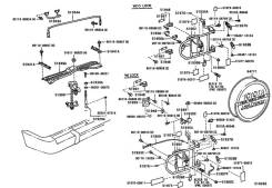 Тросик. Toyota Land Cruiser, FJ80, HDJ80, HDJ81, HZJ80, HZJ81 Двигатели: 3FE, 1HZ, 1HDT, 1HDFT, 3F