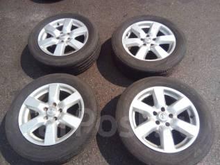 Продам комплект японских колёс 215/60/17 на литье Nissan. 6.5x17 5x114.30 ET45
