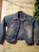 Куртки джинсовые. Рост: 104-110, 110-116 см