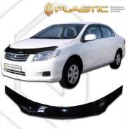 Дефлектор для защиты передней части капота Toyota Corolla Axio (шелкография белая) кузов NZE 141 2006г. (535) (535) Ш/Б