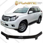 Дефлектор для защиты передней части капота Toyota Land Cruiser Prado 150 (шелкография серебро) 2011г (486) (486) Ш/С